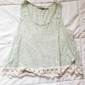 Crop top tank with lace
